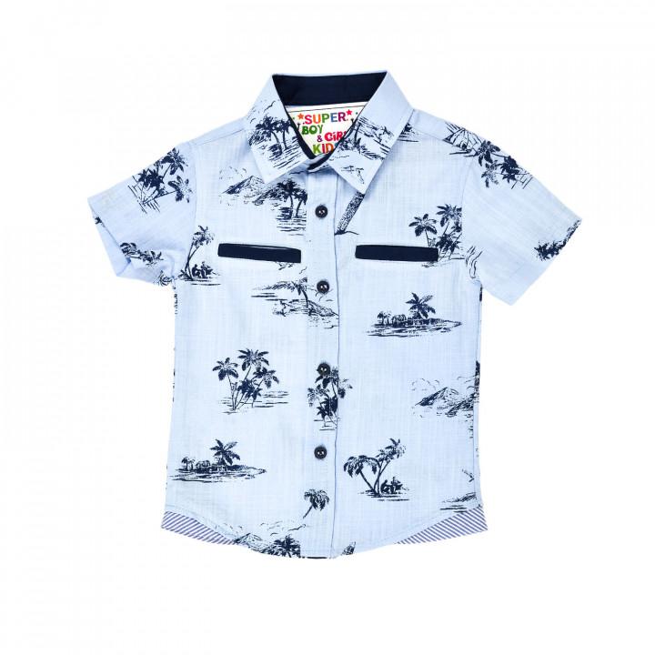 Літня рубашка з пальмами для хлопчика