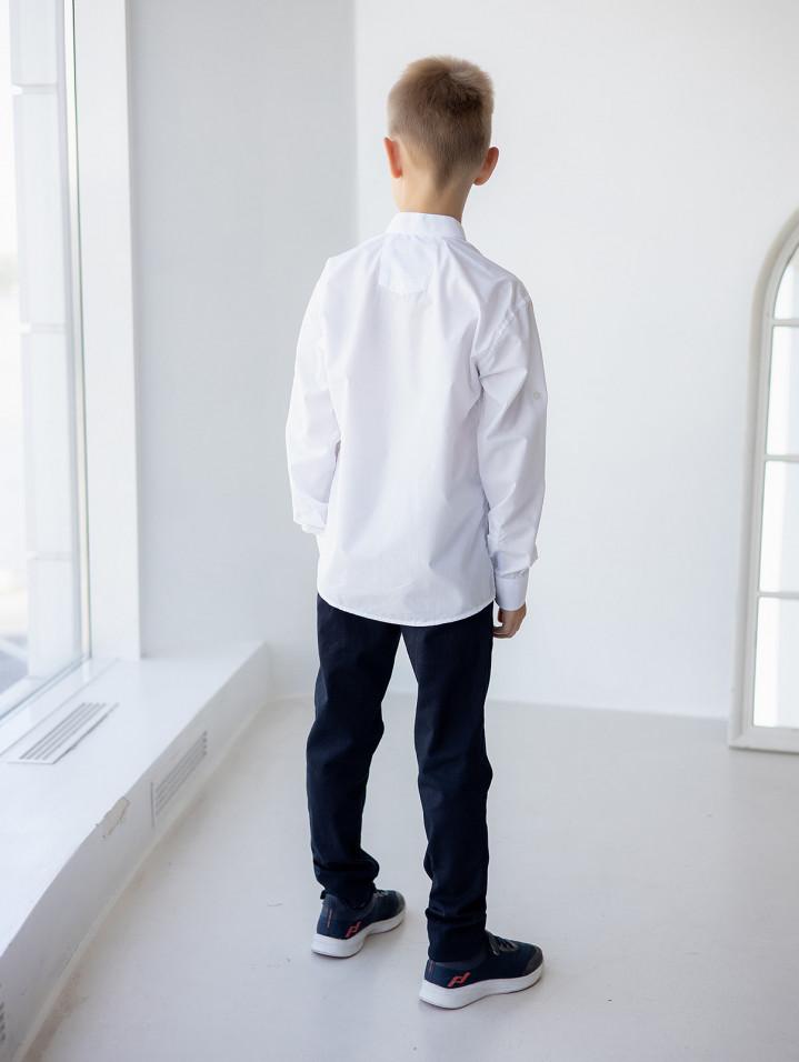 """Біла сорочка стійка """"Classic"""" для хлопчика"""