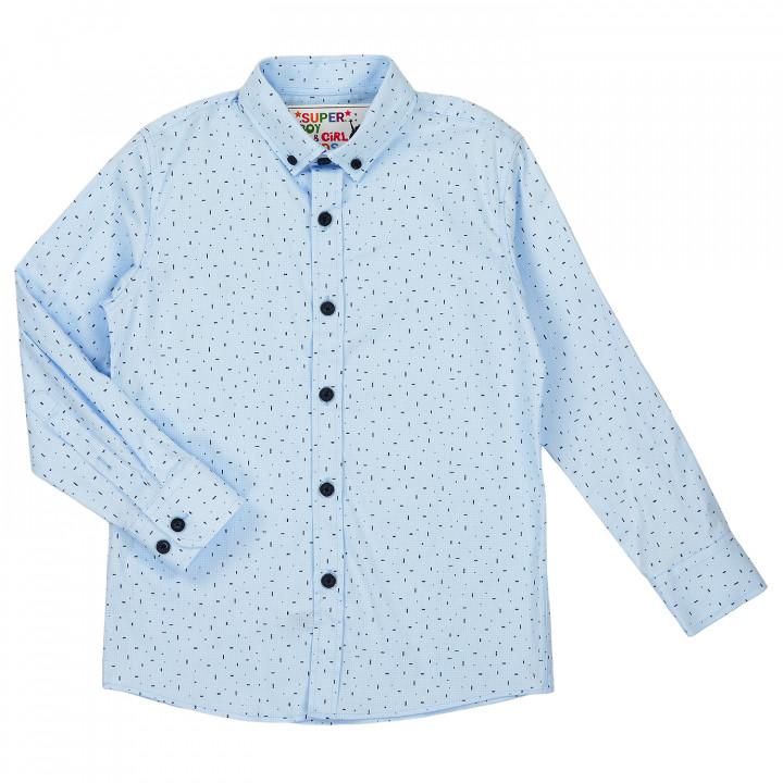 Блакитна сорочка для хлопчика