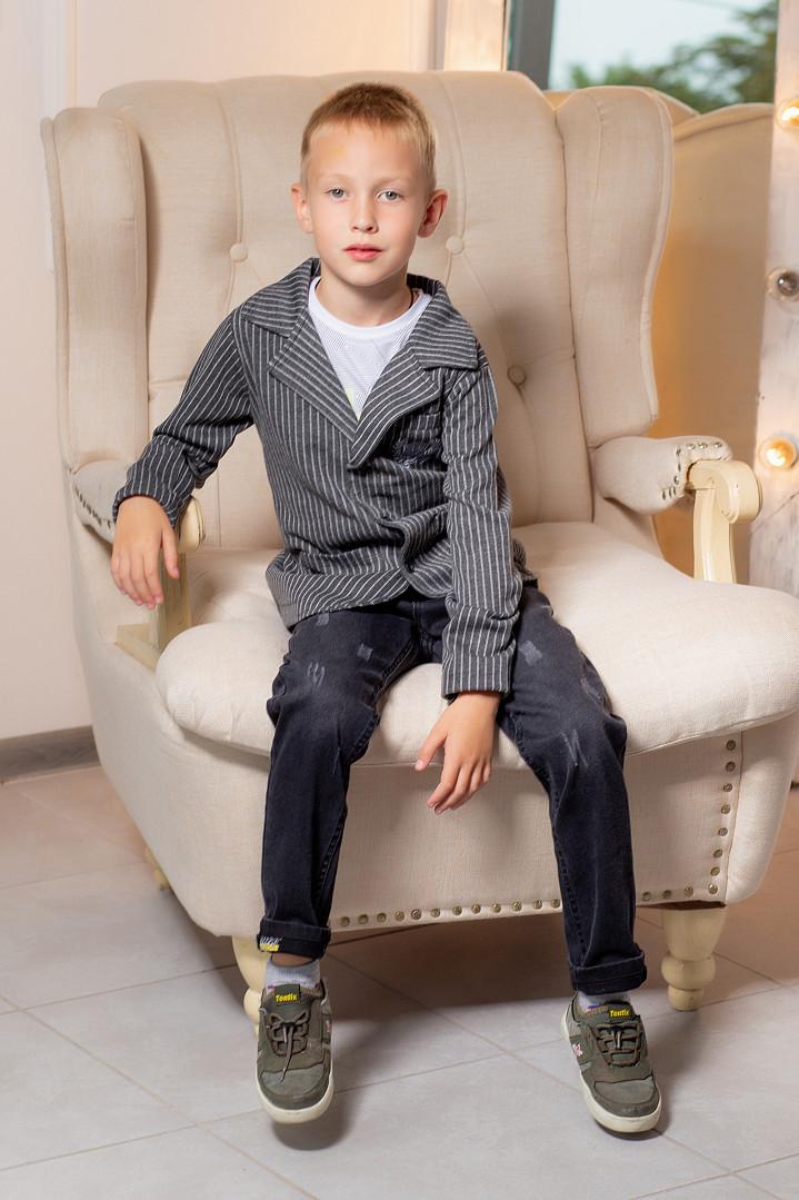"""Трикотажный пиджак """"Полоска"""" для мальчика"""