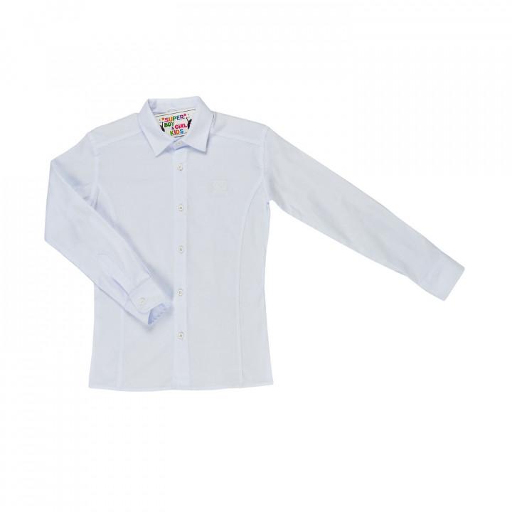 Біла шкільна сорочка для хлопчика