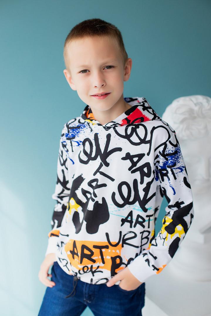 Джемпер з капюшоном для хлопчика