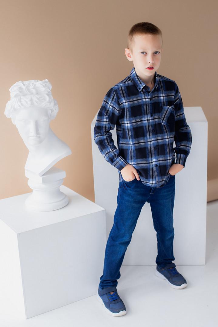 """Рубашка """"Клетка"""" для мальчика"""