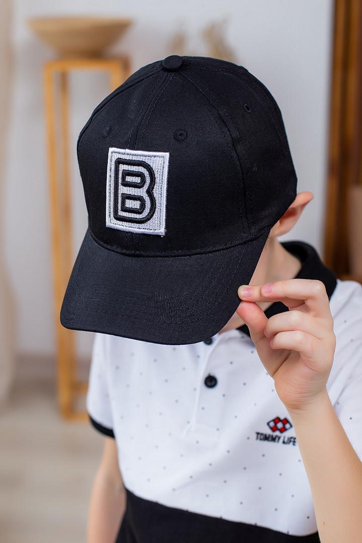 """Кепка """"B"""" для хлопчика"""
