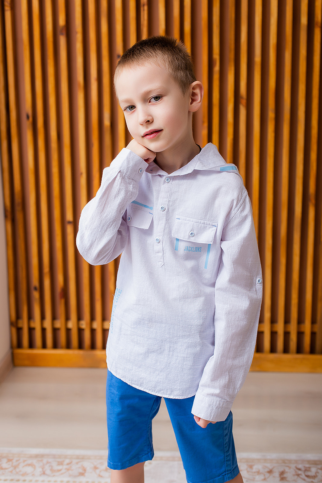 Сорочка з капюшоном для хлопчика