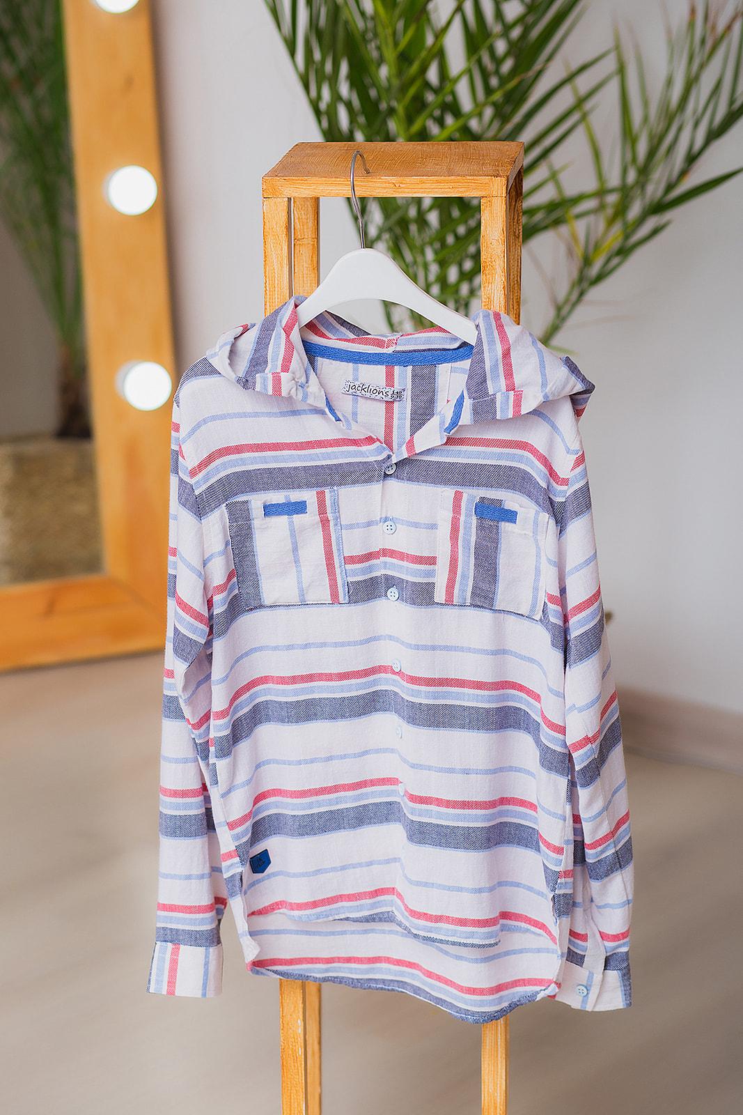 """Рубашка с капюшоном """"Strip"""" для мальчика"""