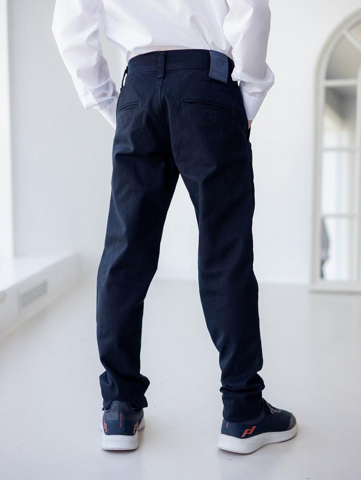 Класичні брюки синього кольору для хлопчика