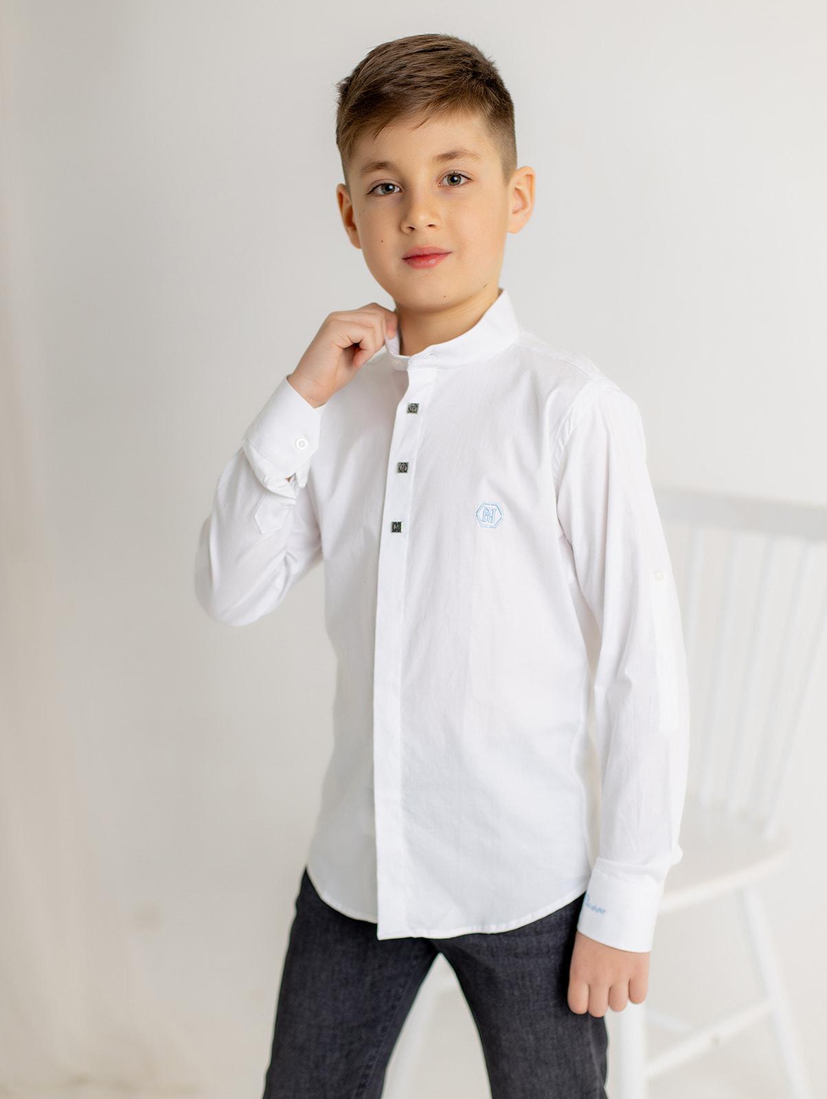 Классическая белая рубашка для мальчика