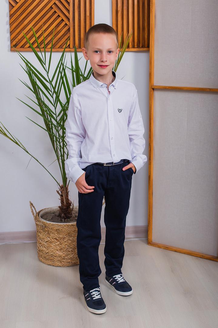"Белая рубашка ""M"" для мальчика"