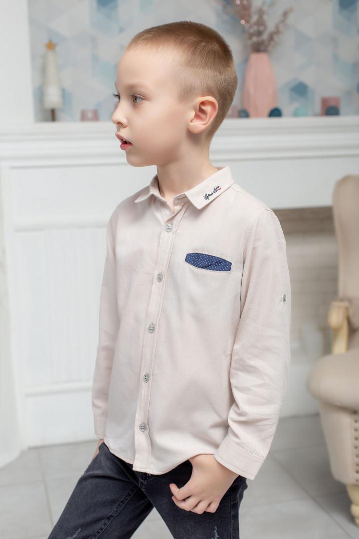 """Сорочка """"Beige"""" для хлопчика"""