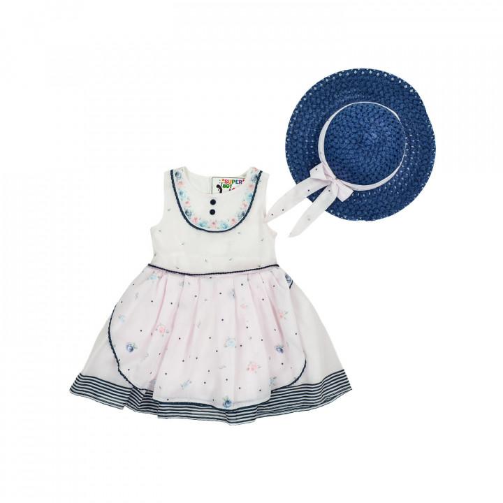 """Нарядное платье """"Розочка"""" с шляпой"""