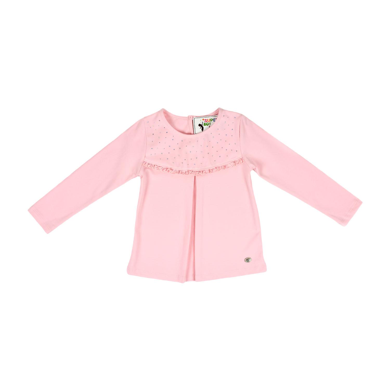 Нарядный розовый реглан для девочки