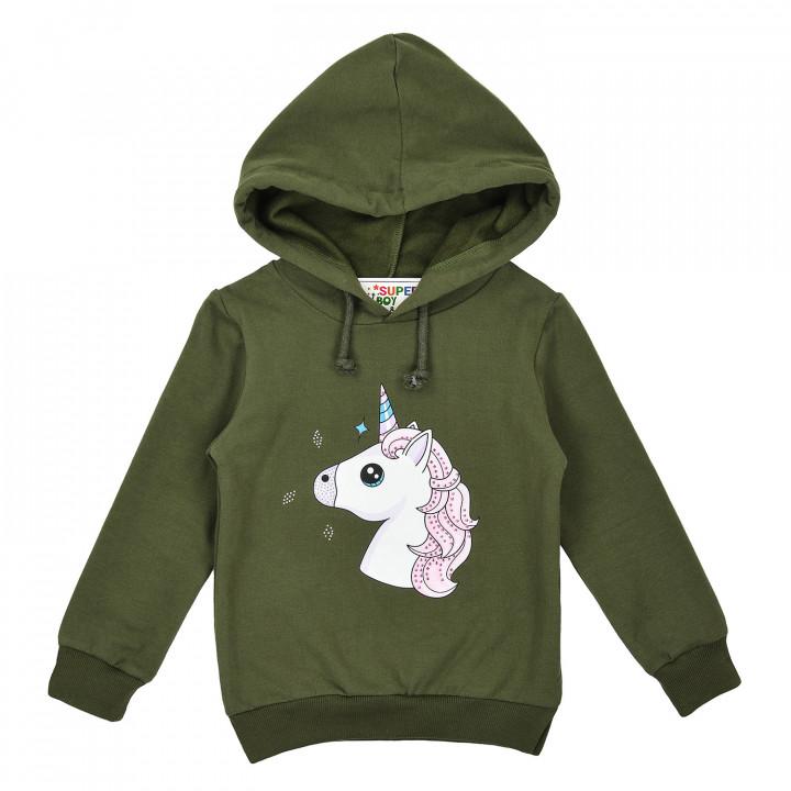 "Тёплый батник ""Unicorn""  для девочки"