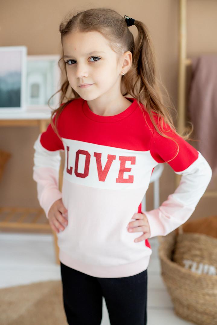 """Батник """"LOVE"""" для девочки"""