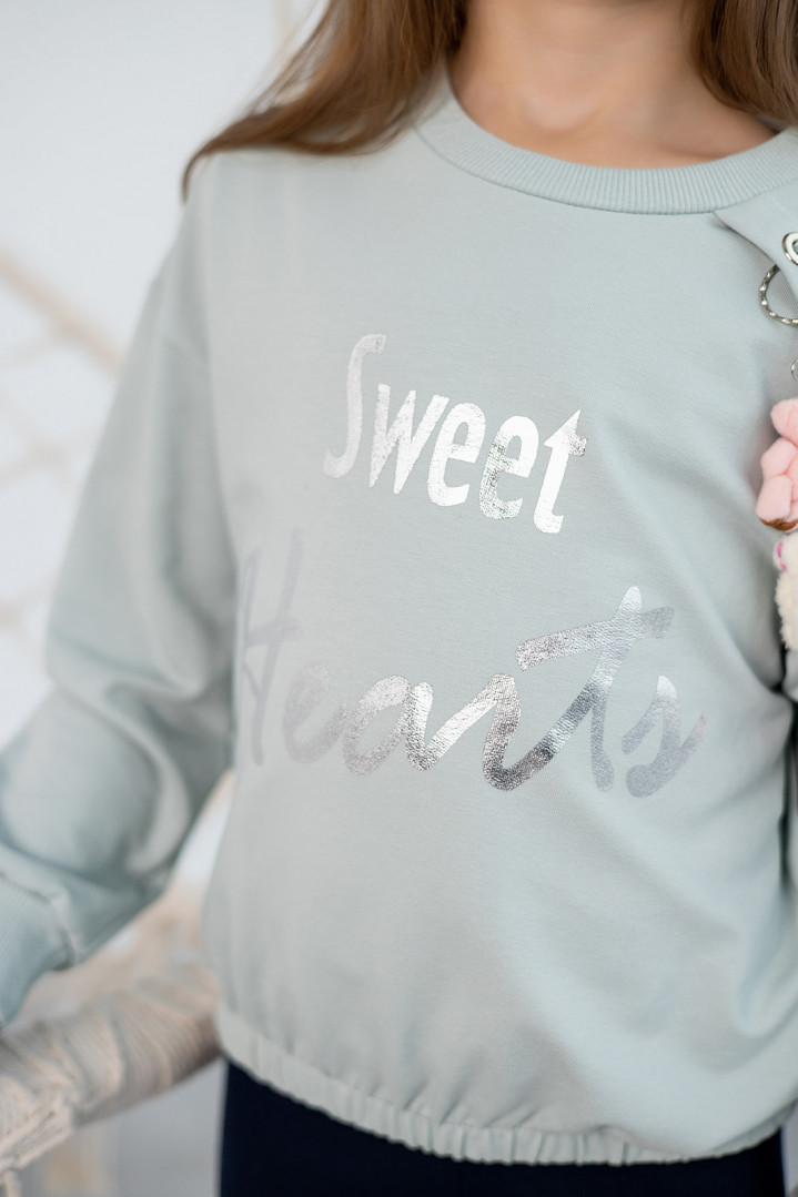 "Худи ""Sweet hearts"" для девочки"