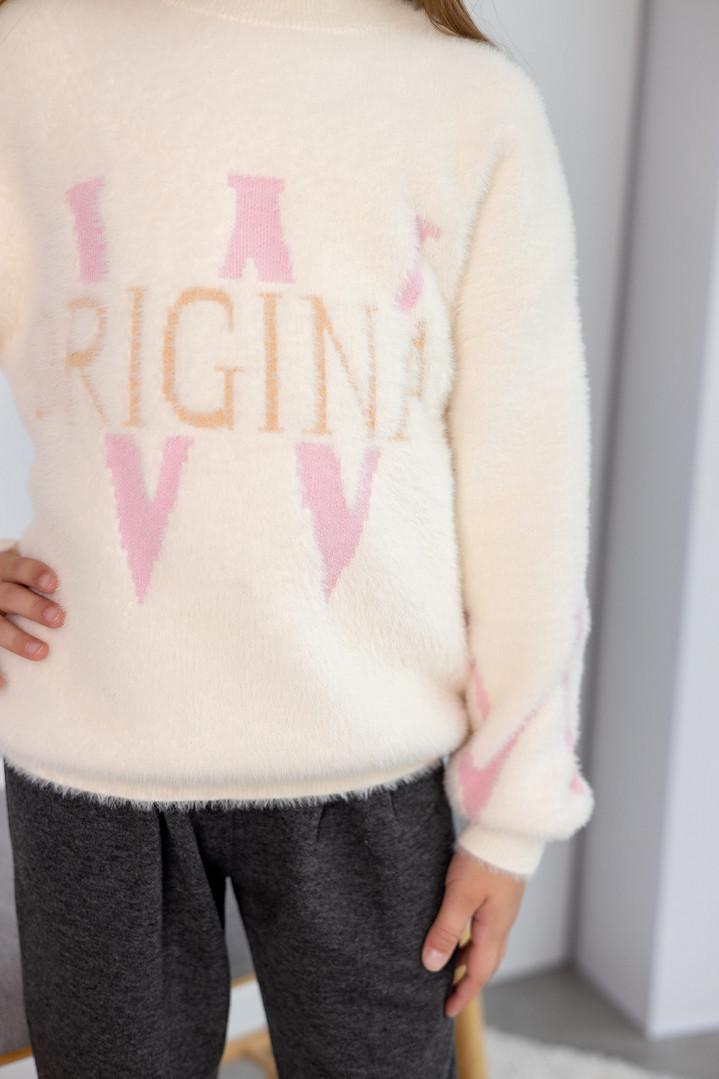 """Пушистый свитер """"ORIGINAL""""  для девочки"""