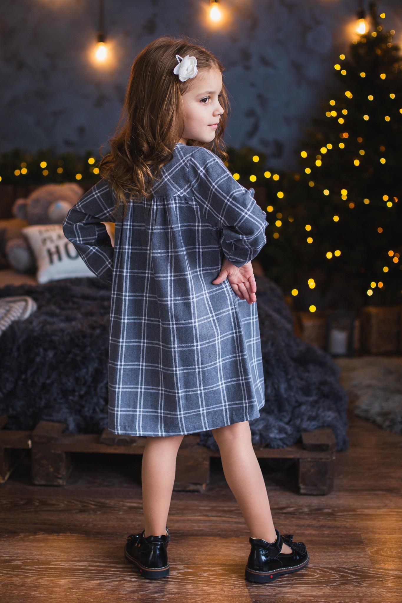 Платье с рюшой для девочки