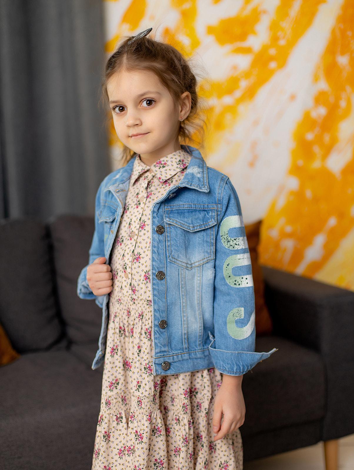 Джинсовая куртка I AM для девочки