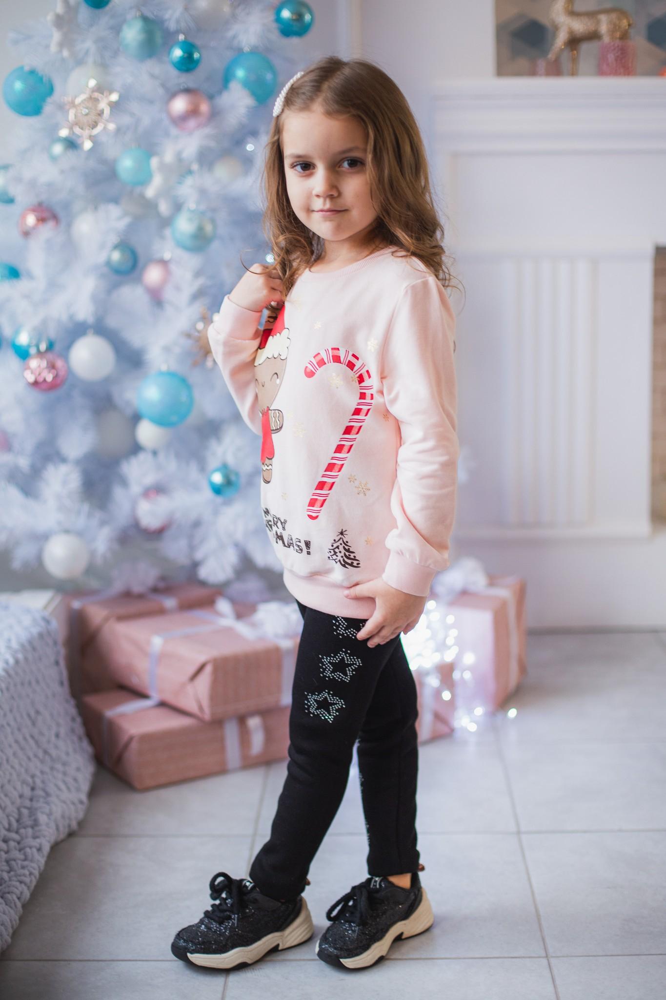 """Новорічний джемпер """"Cookie""""  для дівчинки"""