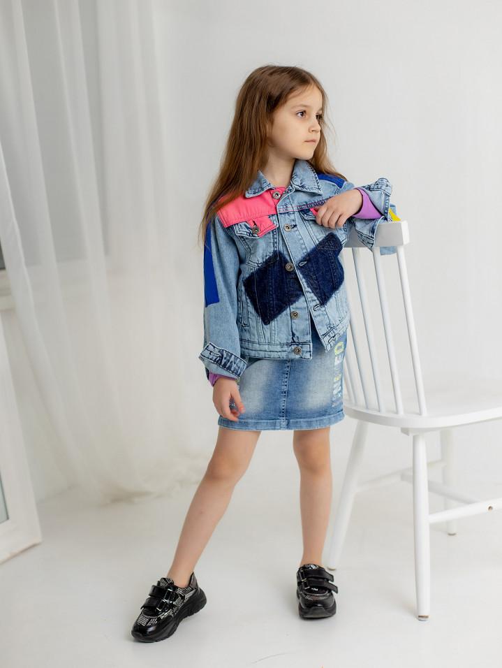 """Джинсовая курточка """"Bright"""" для девочки"""