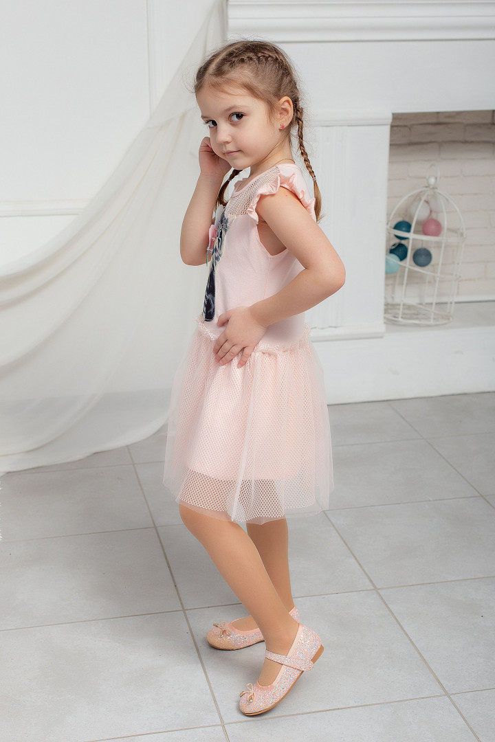 Летнее платье с 3D рисунком
