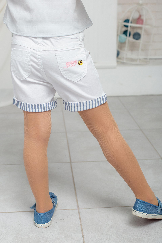 Белые шорты с манжетом для девочки
