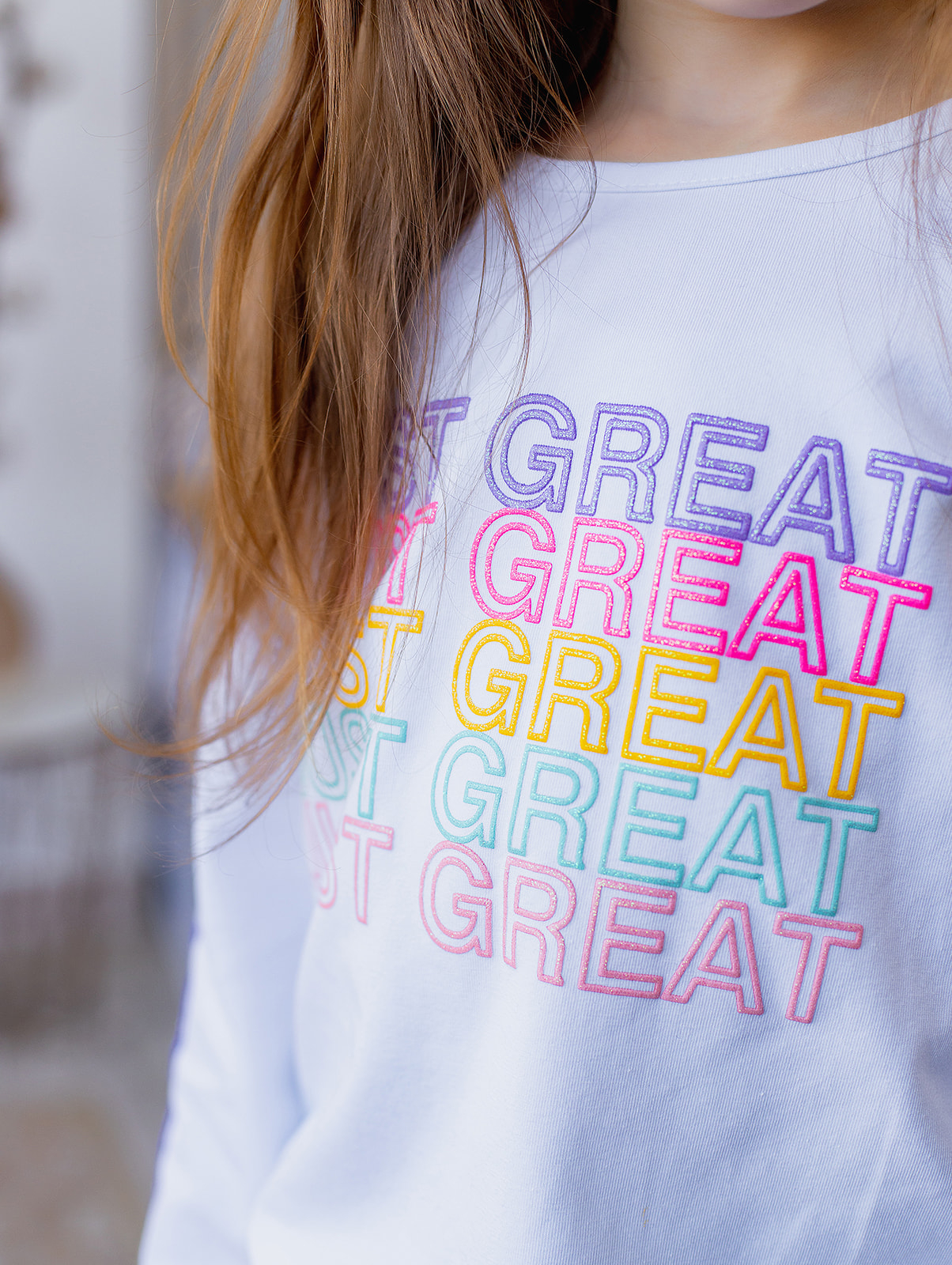 "Кофта ""JUST GREAT"" для девочки"