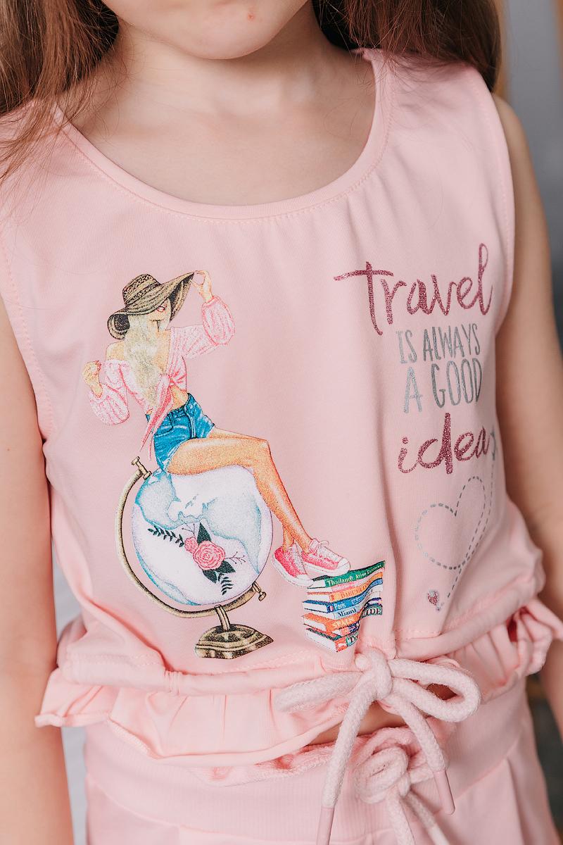 """Летний комлект """"Travel"""" для девочки"""