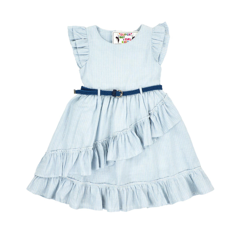 Платье в полоску с пояском