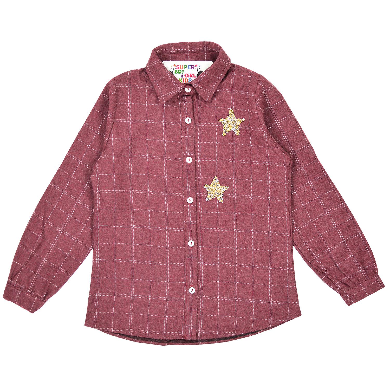 """Рубашка """"Клетка""""  для девочки"""