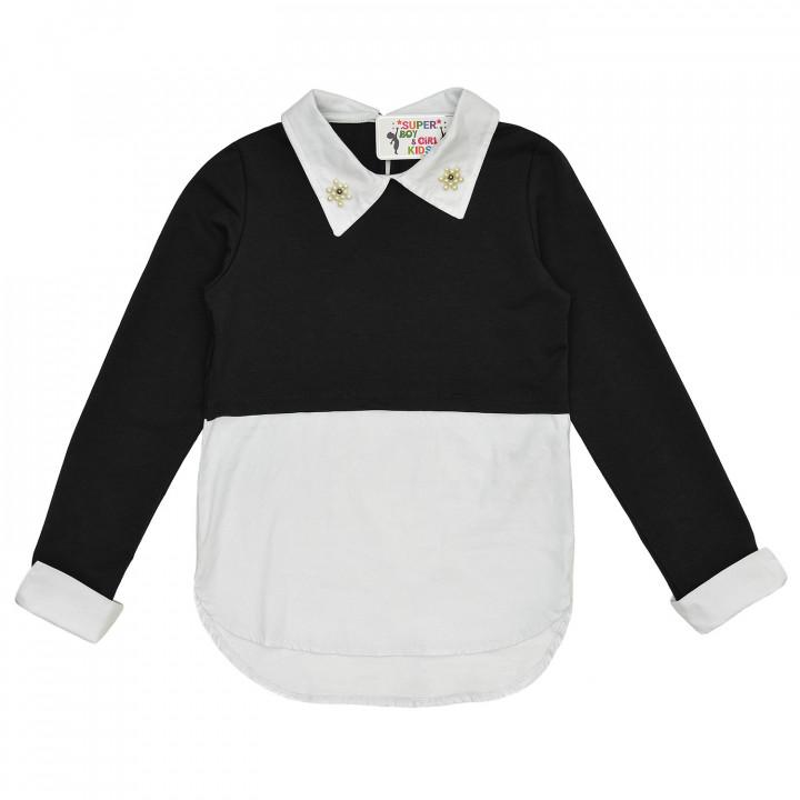 Рубашка - реглан для девочки