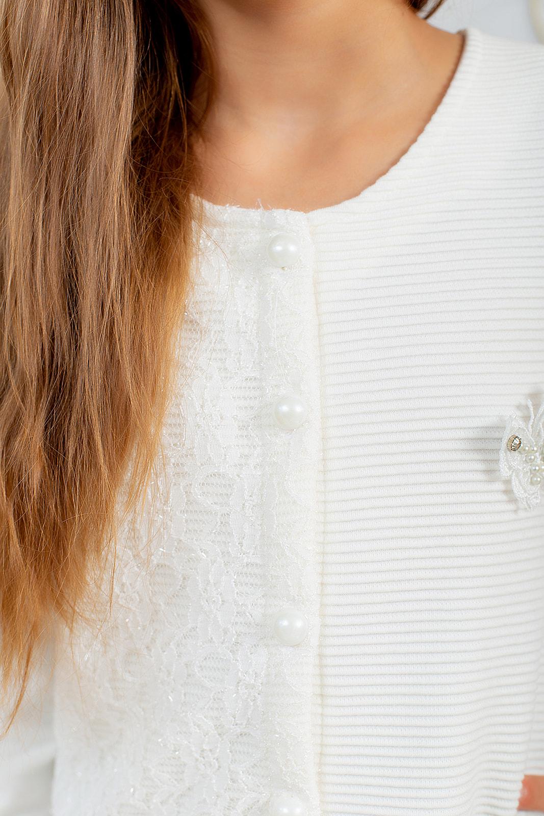 Нарядный джемпер на пуговицах для девочки