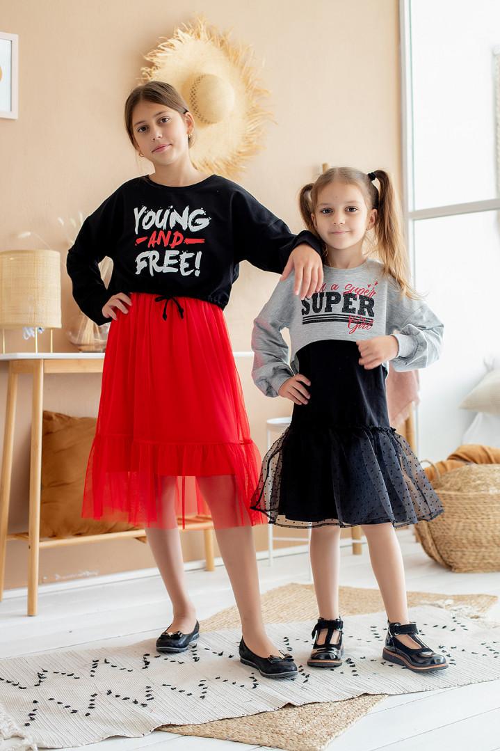 """Комплект двойка """"YOUNG & FREE"""" для девочки"""