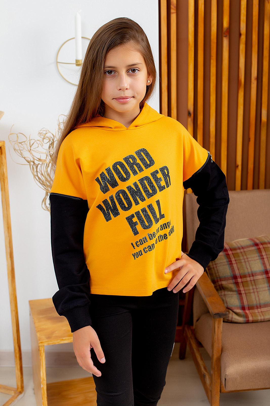 """Худі """"WORD"""" для дівчинки"""