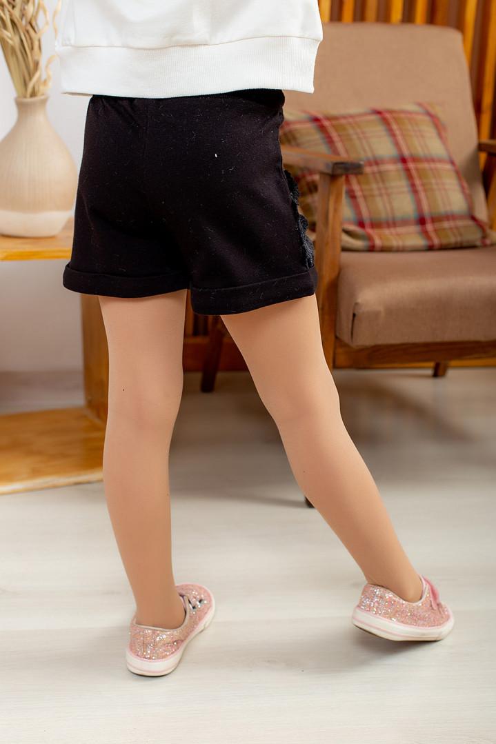 Трикотажные шорты с мехом для девочки