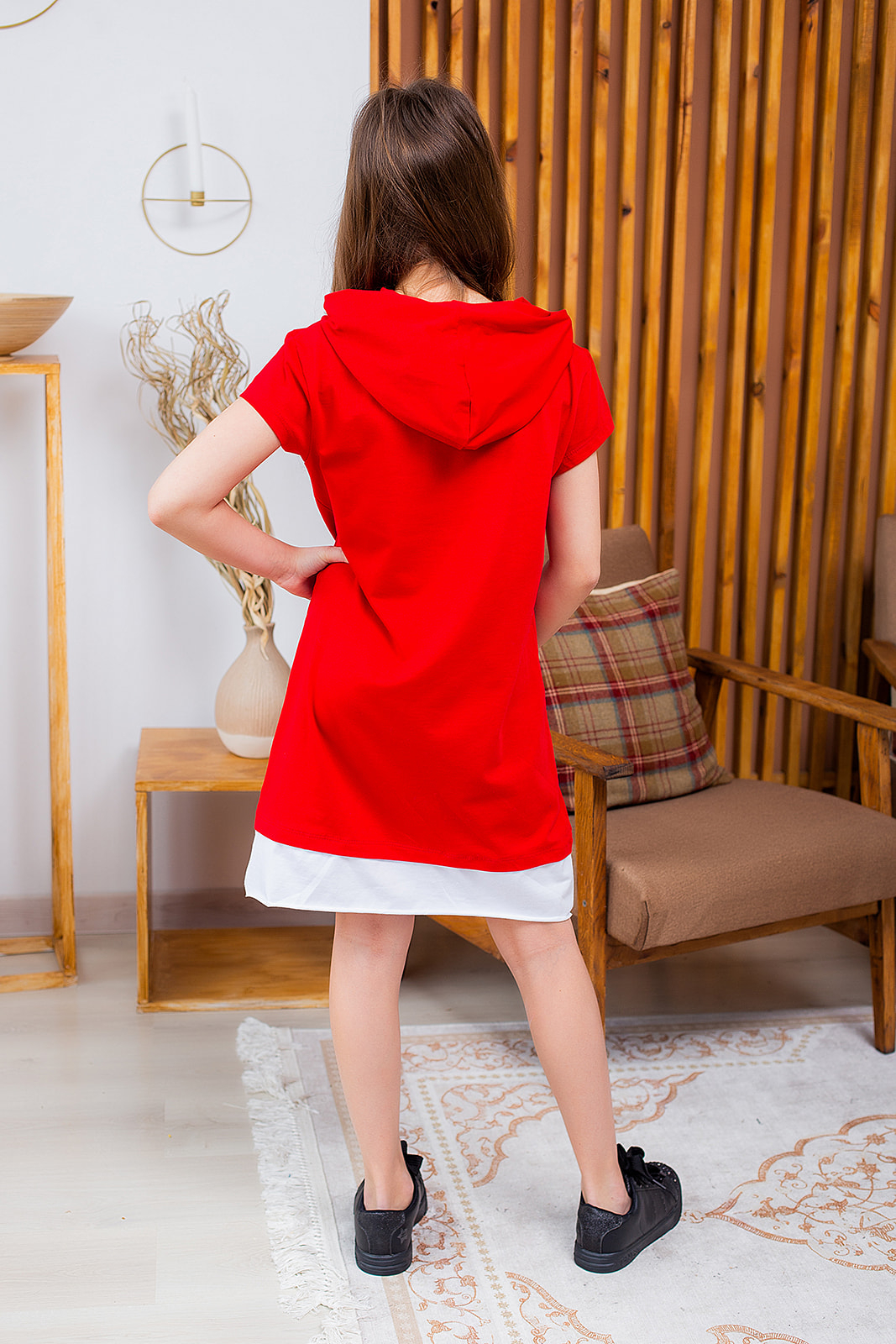 Літнє сукня-туніка з капюшоном