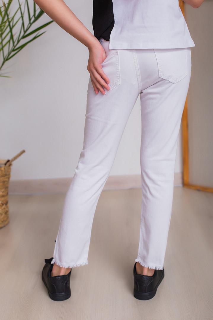 """Білі джинси """"LOOK"""" для дівчинки"""