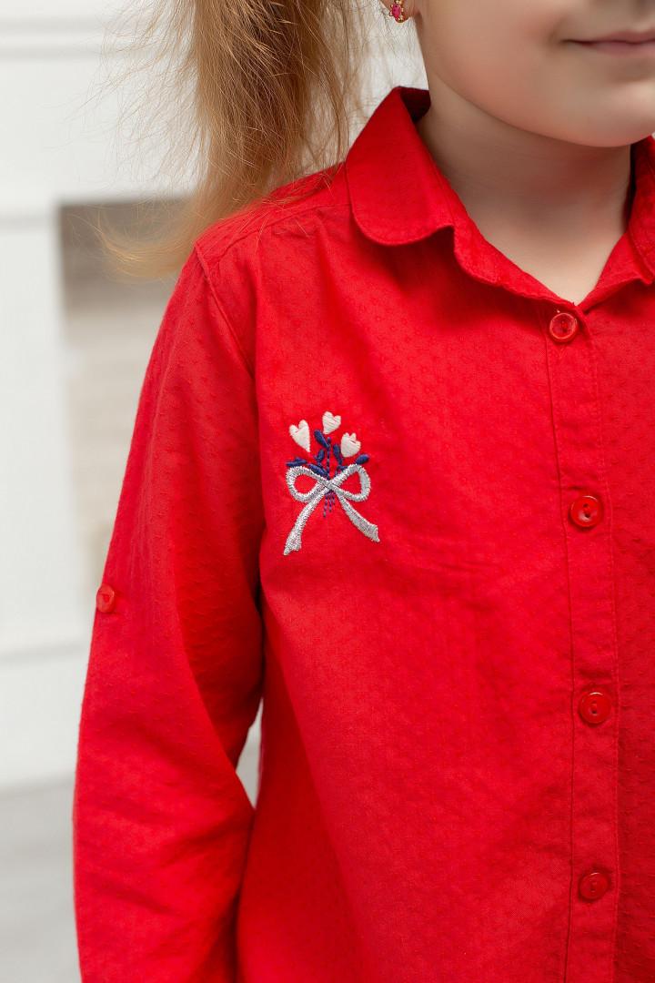 "Рубашка ""Red"" для девочки"