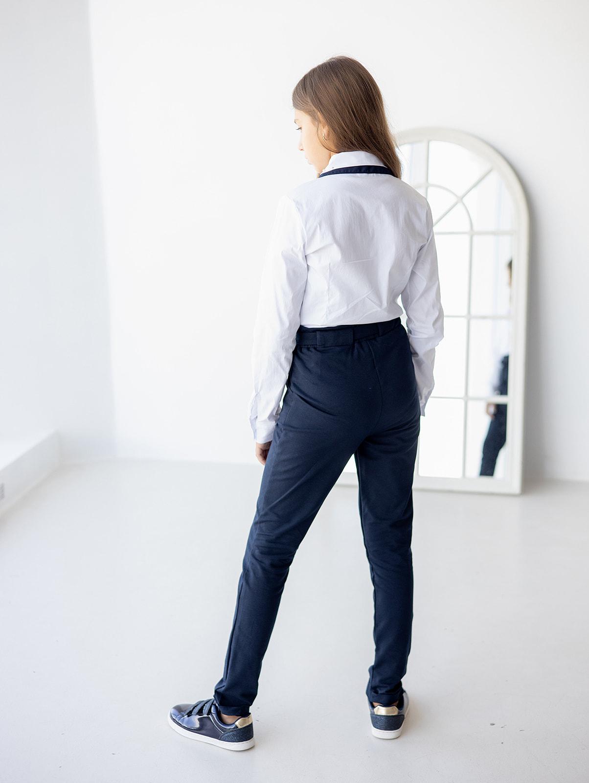 Штани трикотажні з поясом для дівчинки
