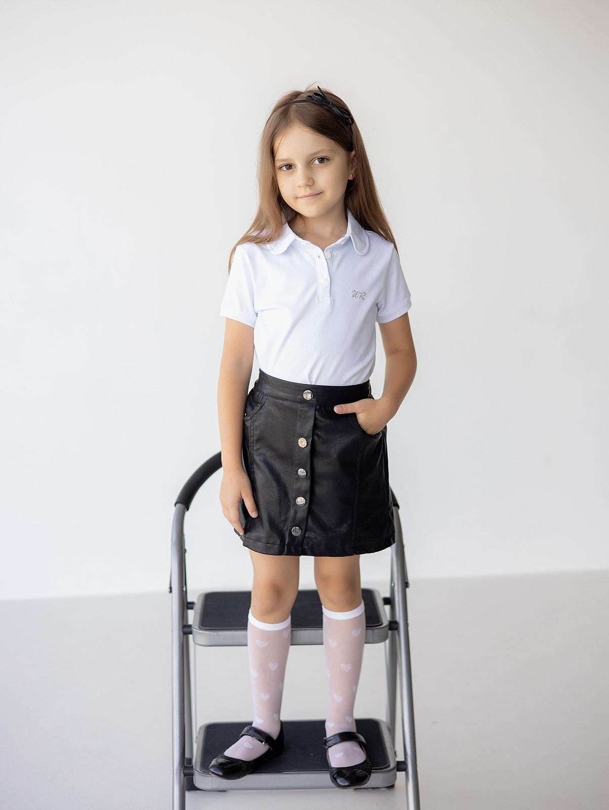 Поло с коротким рукавом для девочки