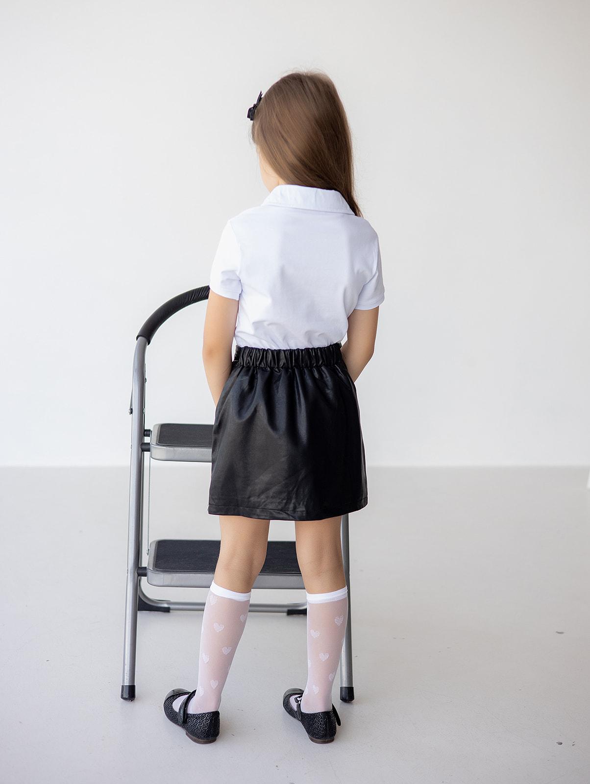 Спідниця з еко шкіри для дівчинки