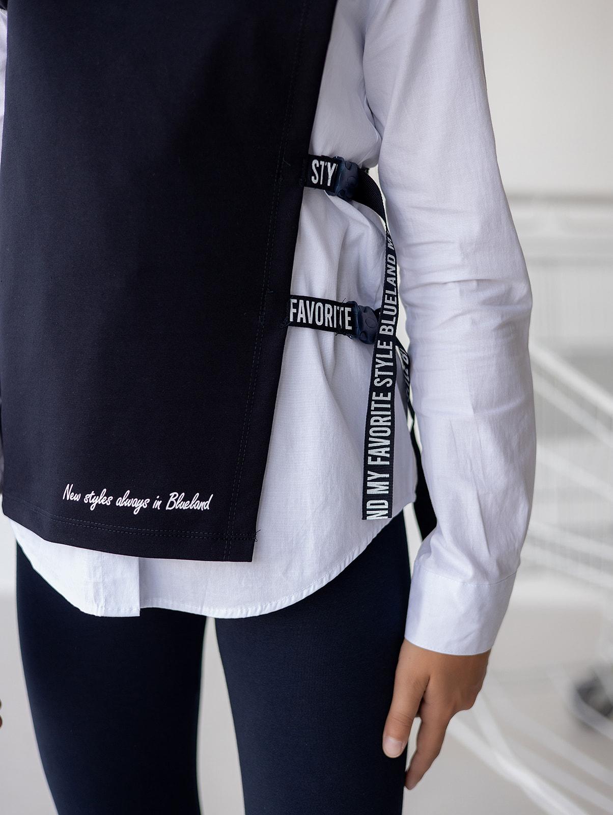 Сорочка з жилетом для дівчинки