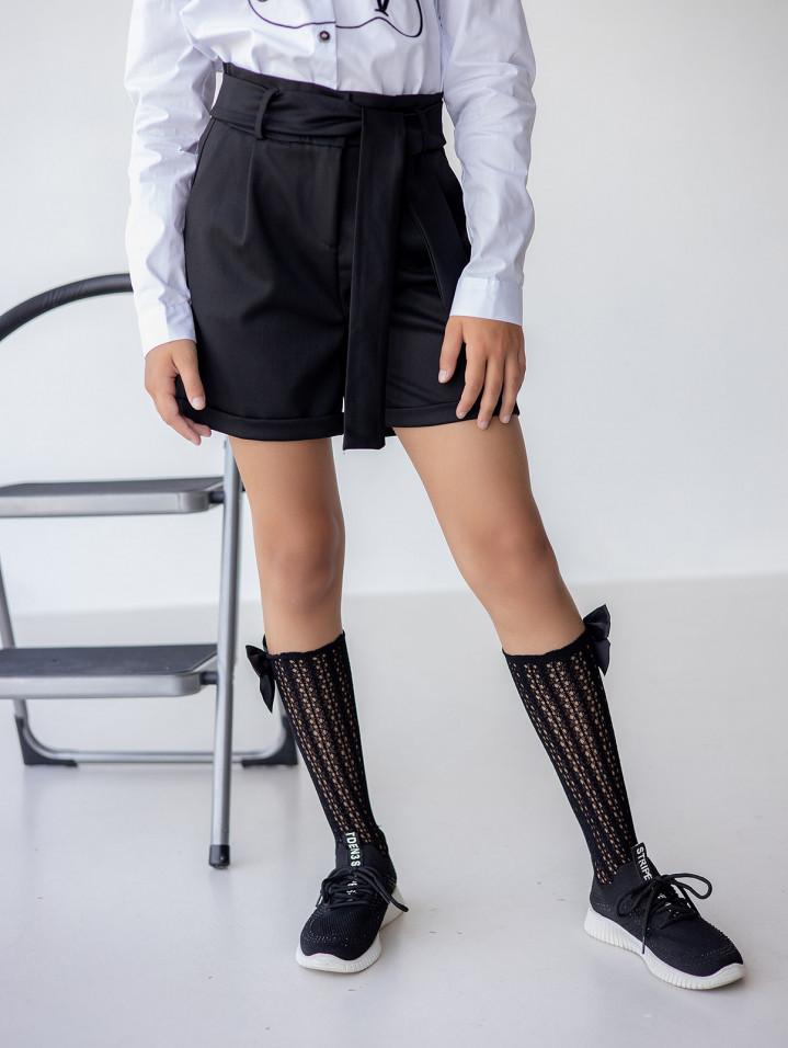 Шорти з поясом для дівчинки