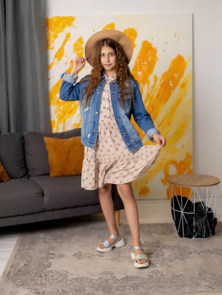 """Джинсовая курточка """"Style"""" для девочки"""