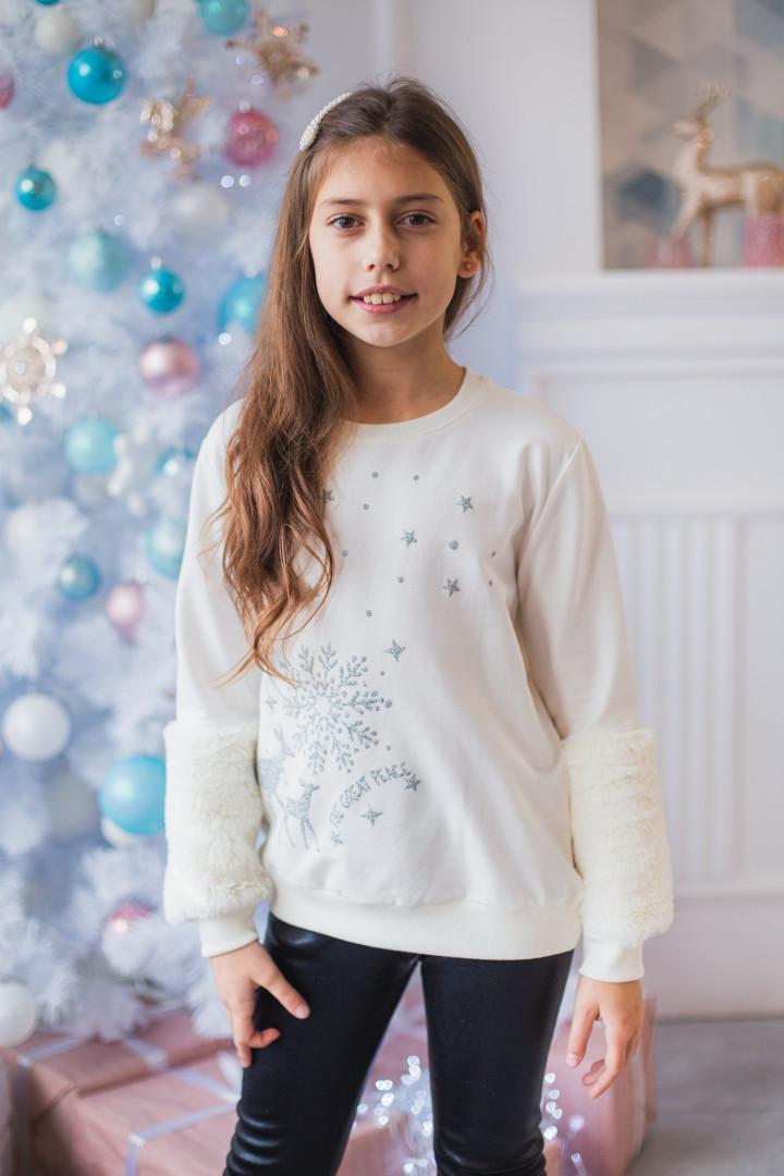 """Джемпер """"Christmas mood"""" для дівчинки"""