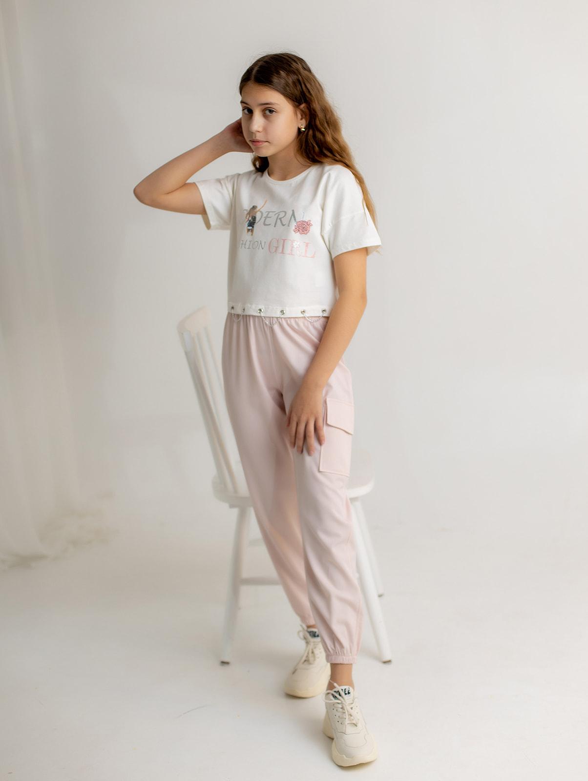 """Набор летний с брюками """"MODERN"""" для девочки"""