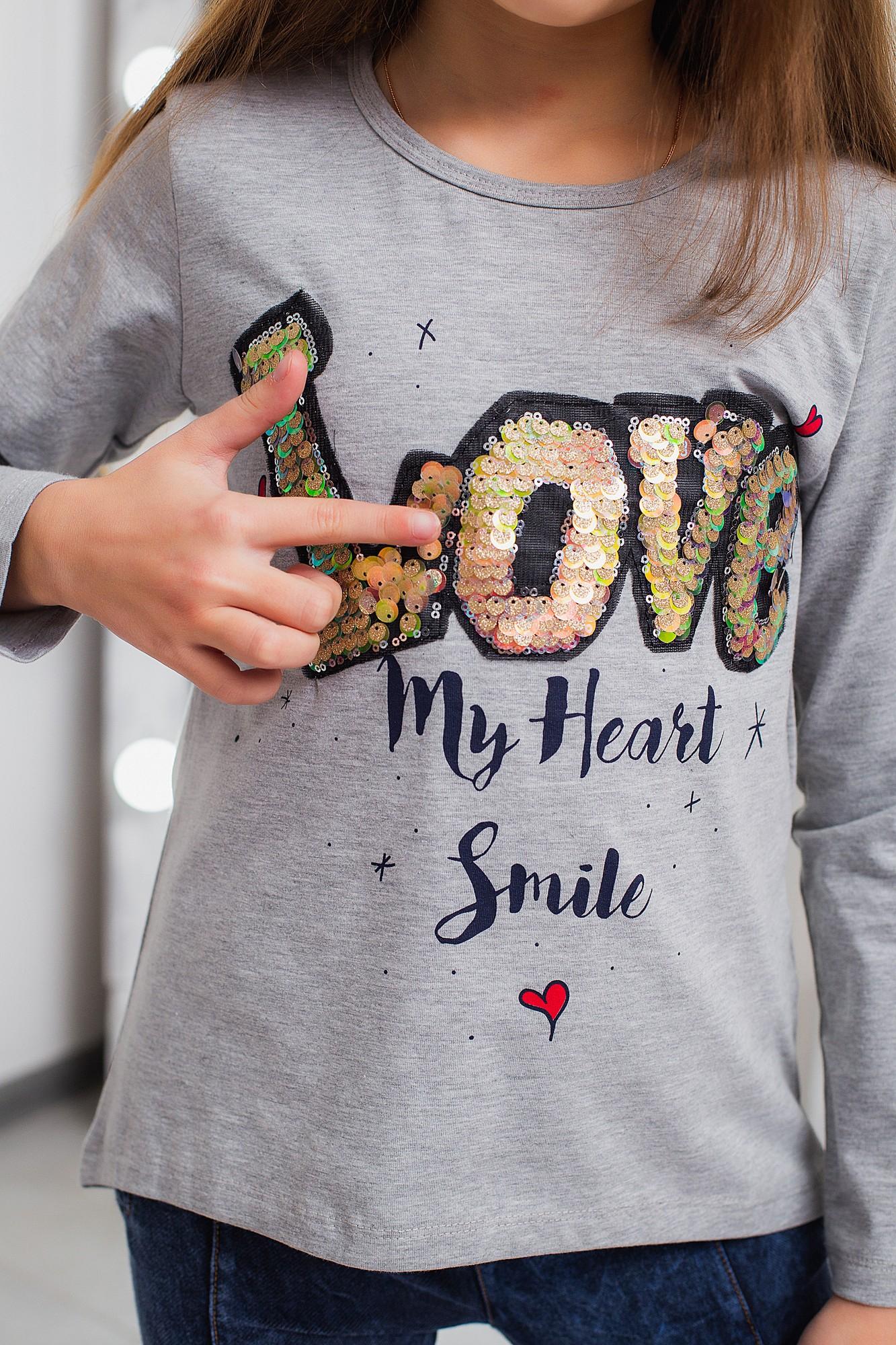 """Реглан """"My Heart"""" для девочки"""