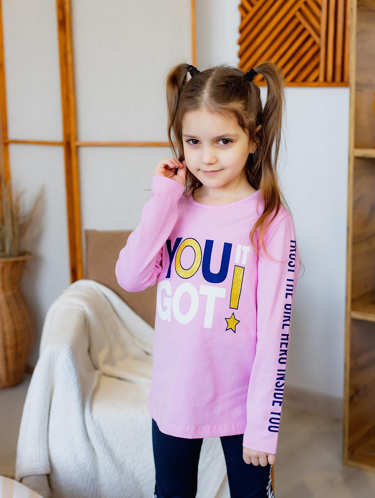 """Реглан """"YOU IT"""" для дівчинки"""