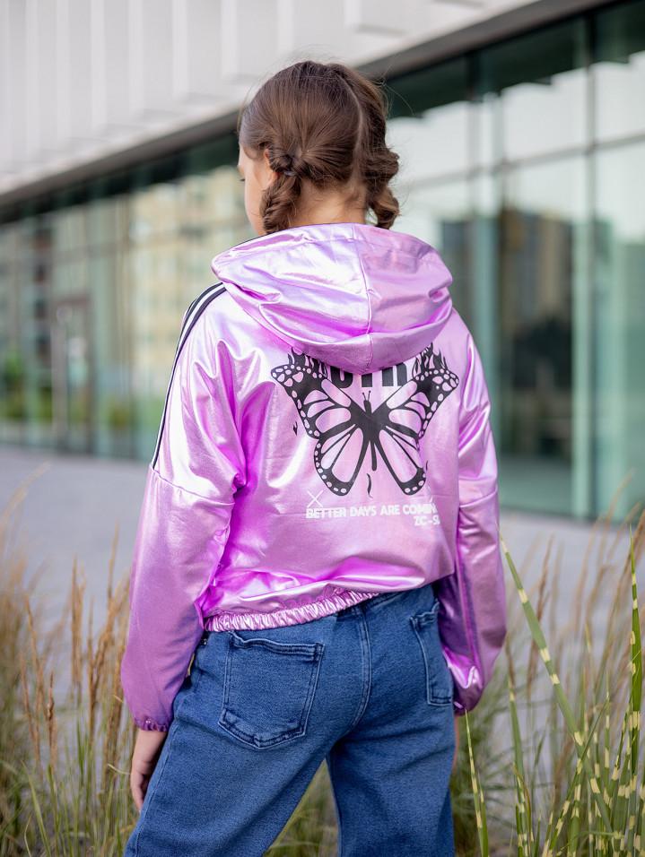 """Куртка-бомбер """"TIME"""" для дівчинки"""