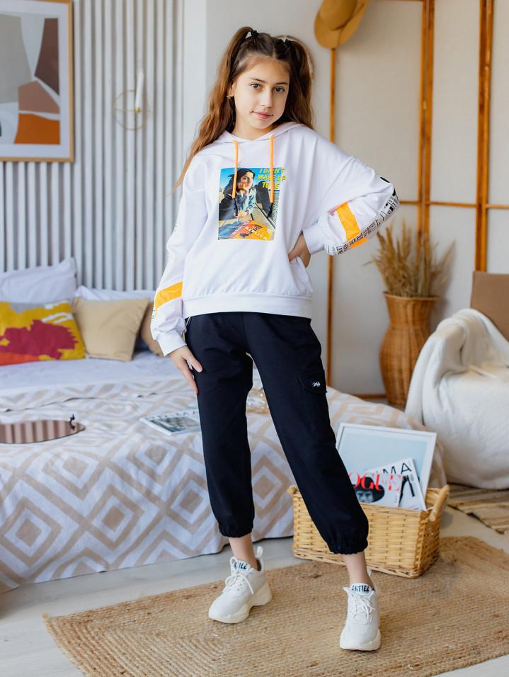 Спортивные штаны с цепочкой для девочки